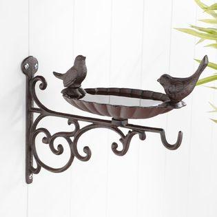 HI Ścienny karmnik dla ptaków, żeliwny