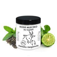 e-FIORE Kozie mleko do kąpieli z kolagenem i pantenolem 400g - Herbaciane z bergamotką