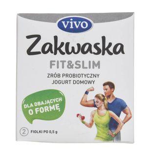 Vivo Zakwaska Fit & Slim żywe kultury bakterii - 2 fiolki po 0,5 g