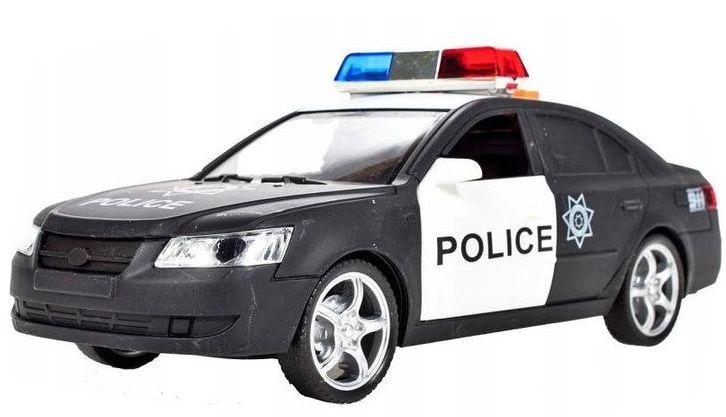 Samochód policyjny Radiowóz interaktywny dźwięki i światła Y259 zdjęcie 3