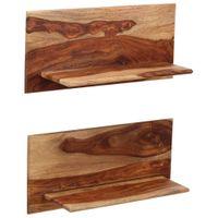 Półki ścienne, 2 szt., 58 x 26 x 20 cm, lite drewno sheesham 247930