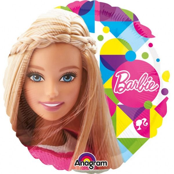 Bukiet balonów foliowych Barbie 5 szt zdjęcie 3