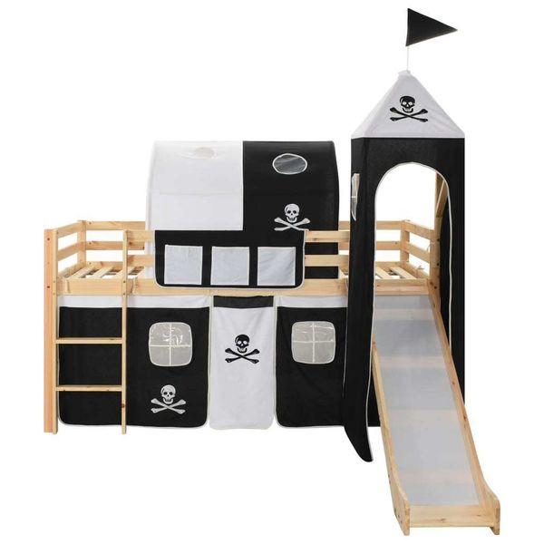 Wysoka Rama łóżka Dziecięcego Zjeżdżalnia I Drabinka 97x208cm 282711