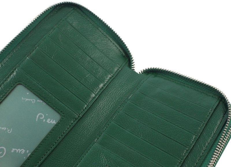 Saszetka podwójna damska Pierre Cardin, kolor zielony zdjęcie 8