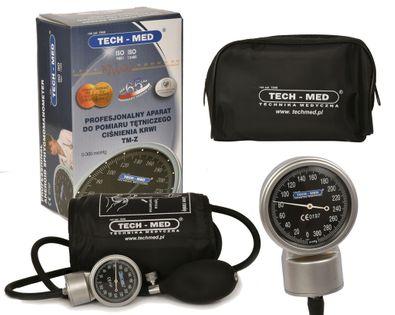 Ciśnieniomierz zegarowy ze stetoskopem analogowy TECH-MED TM-Z/S + stetoskop