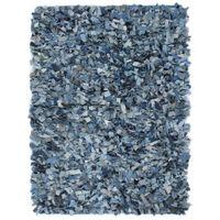 Dywan shaggy, dżins, 120x170 cm, niebieski