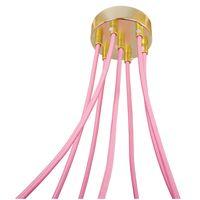 Lampa Wisząca Pająk 7 Różowo Złoty Galwanizowana E27