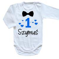 Body niemowlęce na roczek 1 urodziny z imieniem dziecka Moocha.pl