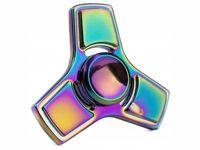Fidget Spinner Metalowy Tęczowy wzór 9 BOX HIT