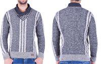 Sweter CIPO&BAXX C-6381 KOŁNIERZ KOMIN M