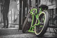 Zielony rower Rozmiar - 60x40, Kolor - Kolor II