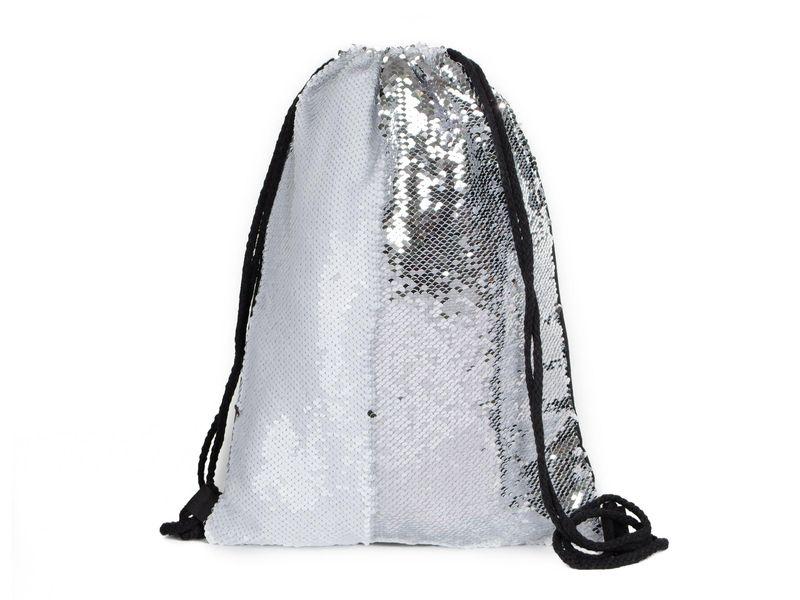 e9e7460b3d178 Błyszczący plecak damski worek cekiny biały • Arena.pl