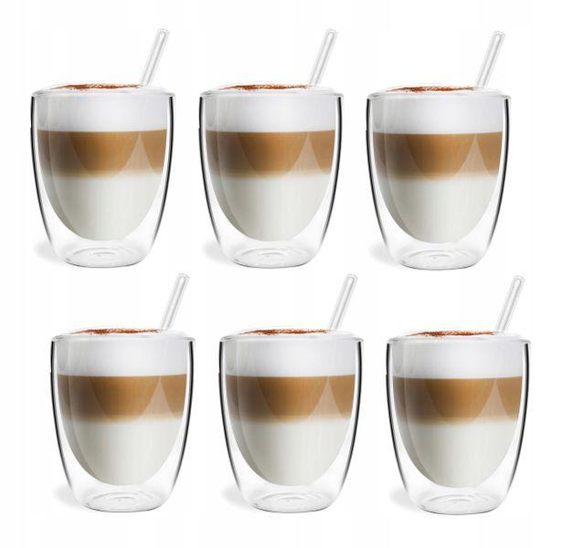 Szklanki Termiczne Podwójna Ścianka Kawa Herbata 320ml Vialli Design 6 zdjęcie 1