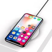 Baseus Simple - Bezprzewodowa ładowarka indukcyjna Qi do iPhone i Android 10W (biały) zdjęcie 5