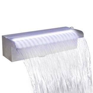 VidaXL Fontanna/wodospad do basenu, 120 cm, z oświetleniem LED