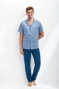 Piżama męska LUNA kod 770 niebieski roz. M