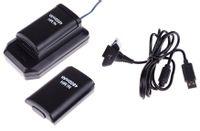 Zestaw XBOX 360 2x bateria + ładowarka + kabel USB Z267