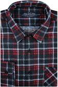 Koszula Męska Philadelphia flanelowa czerwona w kratę na długi rękaw w kroju Regular A255 S 38 170/176