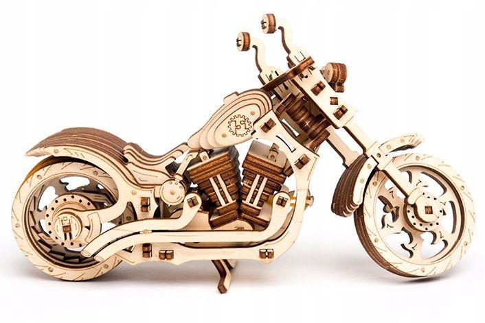 Motocykl Mechaniczne Puzzle 3D Drewniane Wooden City zdjęcie 10