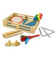 Muzyczny zestaw dzieci 10w1 drewniany instrumenty