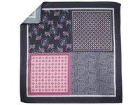 Szaro-różowa poszetka w 4 wzory E241
