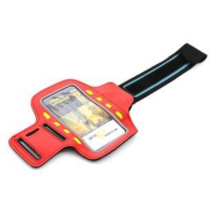 Opaska na ramię na smartfona z diodami LED CZERWONA