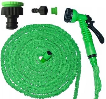 Długi Wąż ogrodowy x-hose rozciągliwy 20-60m +pistolet D192