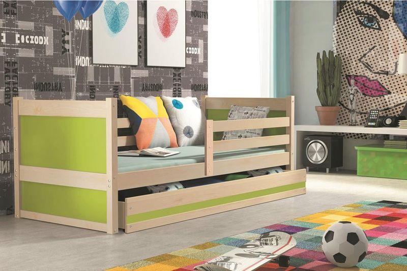 Łóżko RICO dla dzieci pojedyncze dla jednej osoby 190x80 + MATERAC zdjęcie 14