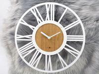 Biały Zegar Ścienny Vintage LOFT Z1091W