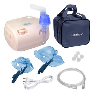 Inhalator nebulizator dla dzieci i dorosłych OMNIBUS BR-CN116 Pudrowy