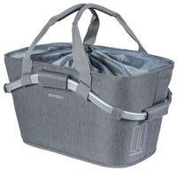 Kosz na tylny bagażnik BASIL 2DAY CARRY ALL REAR BASKET 22L szary + Adapter do koszy toreb BASIL MIK ADAPTER PLATE do montażu na bagażniku MIK (NEW)