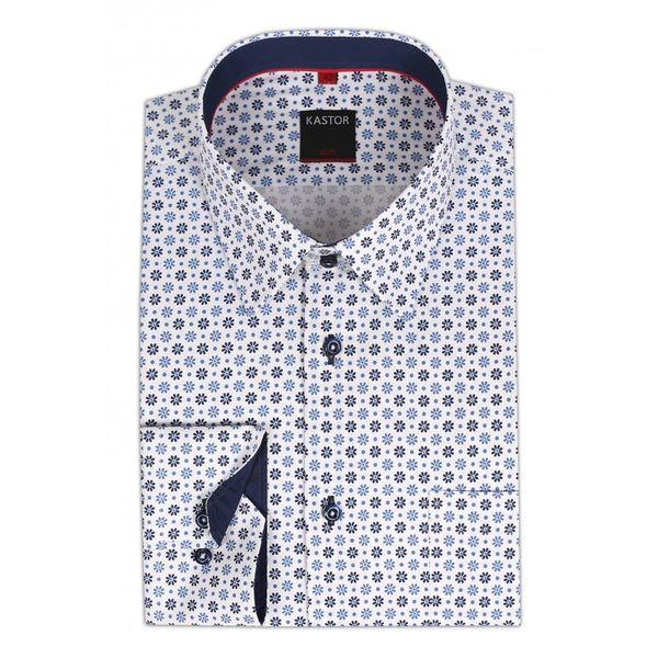 3d84843c54ac Biała koszula męska Kastor w kwiatki Rozmiar koszuli i fason - 188-194   42
