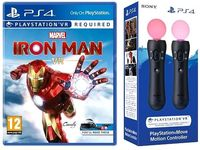 IRON MAN VR 2x KONTROLER MOVE PS VR PS4