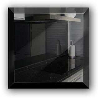 Płytka lustrzana czarna 15x15 cm