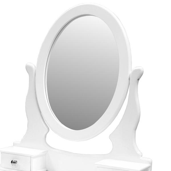 Toaletka Kosmetyczna Biała NANCY + lustro + taboret zdjęcie 12