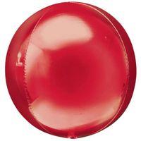 Balon foliowy 40 cm KULA czerwona do dekoracji