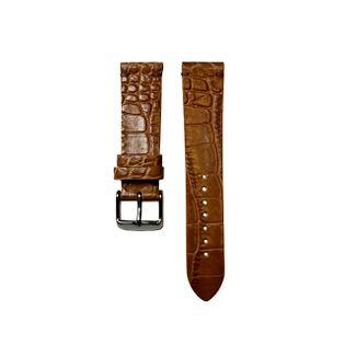 Pasek do zegarka 20mm jasny brąz krokodyl  - polskie - Lamato