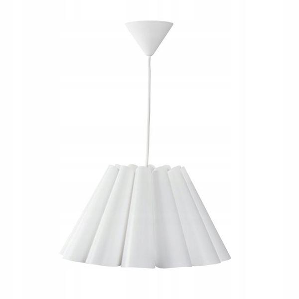 Lampa sufitowa BIAŁA żyrandol nowoczesny KANLUX abażur wisząca E27 LED zdjęcie 1