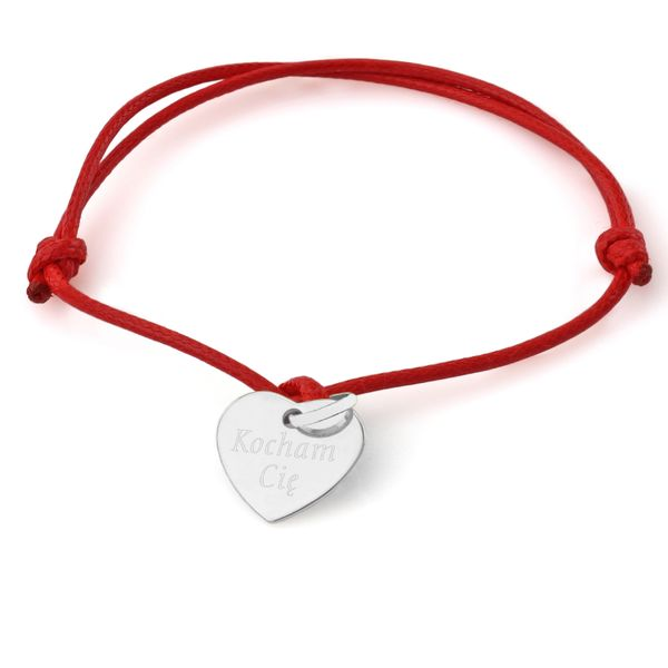 Srebrne SERCE bransoletka PREZENT na WALENTYNKI zdjęcie 1