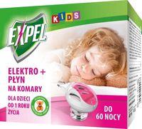 Expel Kids - Elektrofumigator  + Płyn Owadobójczy Na Komary -  60 Nocy