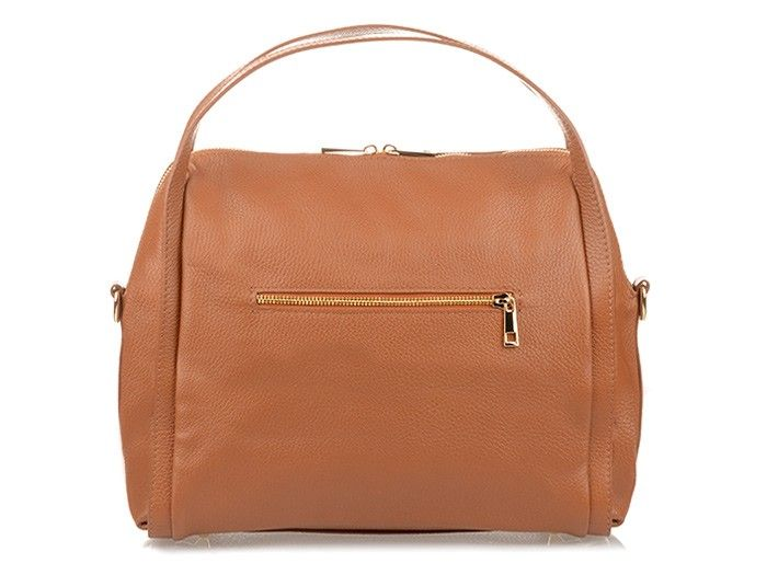 Vera Pelle włoska skórzana duża torebka kuferek L96