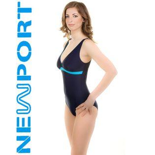 Kostium pływacki LAURA Rozmiar - Stroje damskie - 38(M), Kolor - Stroje damskie - Laura - 42 - granat / niebieski