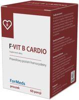 F-Vit B Cardio Witamina B12 1000mcg + Witamina B6 25mg + Kwas foliowy 1000mcg 60 porcji 48g ForMeds