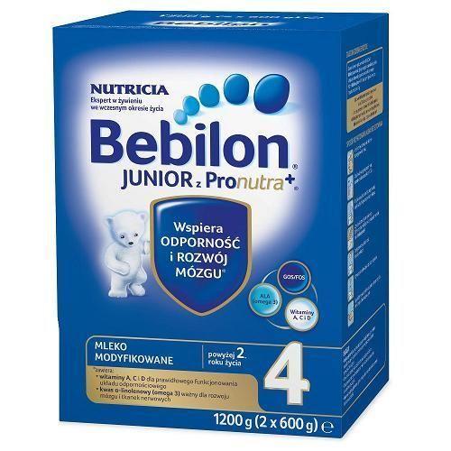 Bebilon 4 Junior z Pronutra+, mleko modyfikowane pow 2r. życia, 1200 g zdjęcie 1