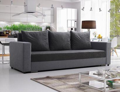 Kanapa sofa Mojito rozkładana trzyosobowa szara