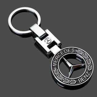 Brelok Do Kluczy - Metalowy - Mercedes -Prezent (Czarny)