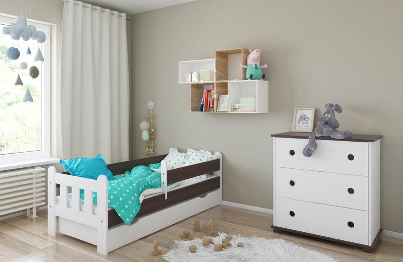 Łóżko STAŚ 140 x 70 z szufladą + barierka ochronna + MATERAC GRATIS zdjęcie 12