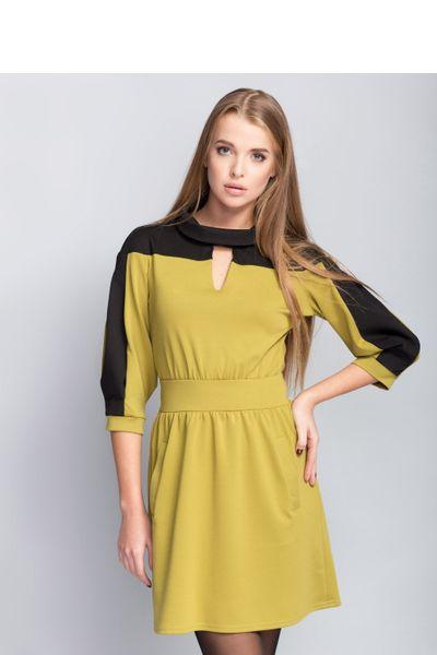 11d6200013 Sukienka Wygodna sukienka o nietypowym fasonie MM1092 Oliwny Mira Mod  Rozmiar - 40 zdjęcie ...