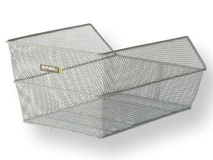 Kosz na tylny bagażnik BASIL CENTO + Mounting set for CENTO basket, stalowy srebrny
