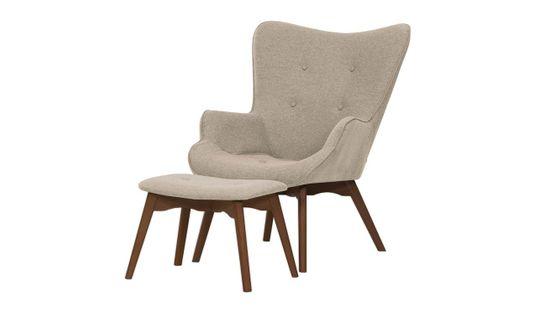 Fotel uszak z podnóżkiem Ducon Malmo-Malmo 8-ciemny dąb